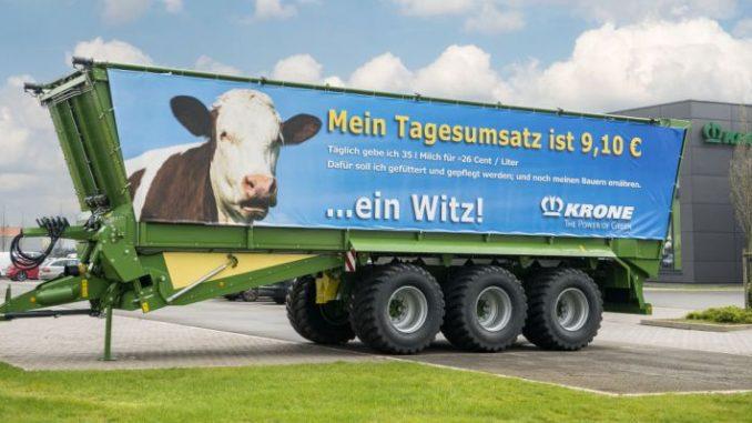 Rollende Solidarität mit den Milchbauern - Foto: Krone