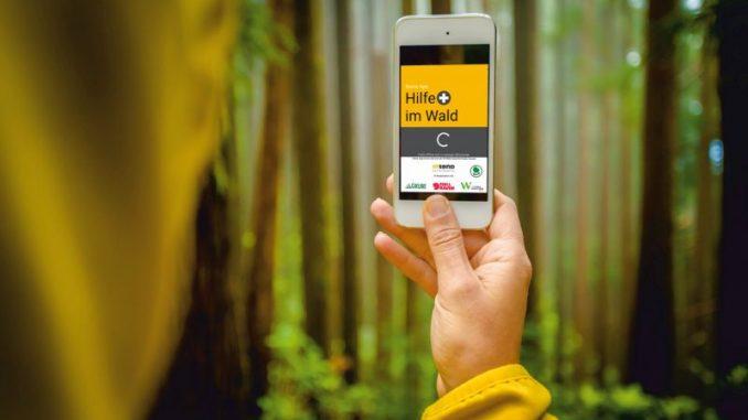 Schnelle Hilfe im Wald mit der App anfordern - Foto: Intend Geoinformatik