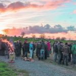 Europaweites Wolfsmahnfeuer für Weidetierhaltung - Foto: Anne Friesenborg
