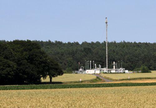 Fracking auch unter meinem Feld? - Bohrstation in Deblinghausen