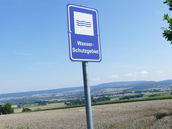 Schild Wasserschutzgebiet