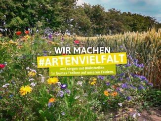 """Aktionsmotiv """"Wir machen Artenvielfalt"""""""