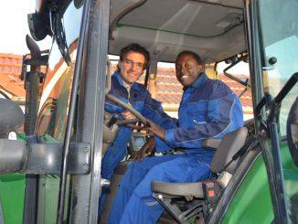 Wilko Meyer und Arnold Asingwire aus Uganda