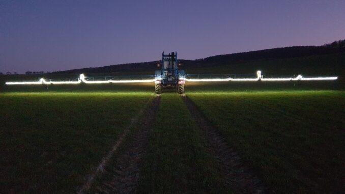 Pflanzenschutzmaßnahmen in der Nacht