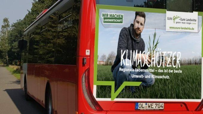 Echt Grün Buswerbung
